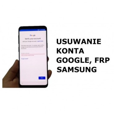Odblokowanie, Usuwanie konta google Samsung FRP